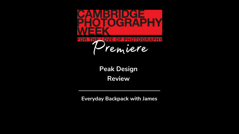 The Peak Design Everyday backpack with James