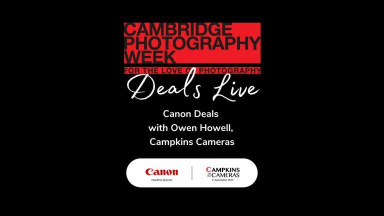 Canon Deals Facebook Live with Owen at Campkins Cameras