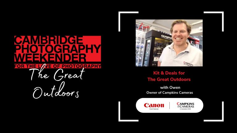 Kit & Deals for The Great Outdoors with Owen at Campkins Cameras